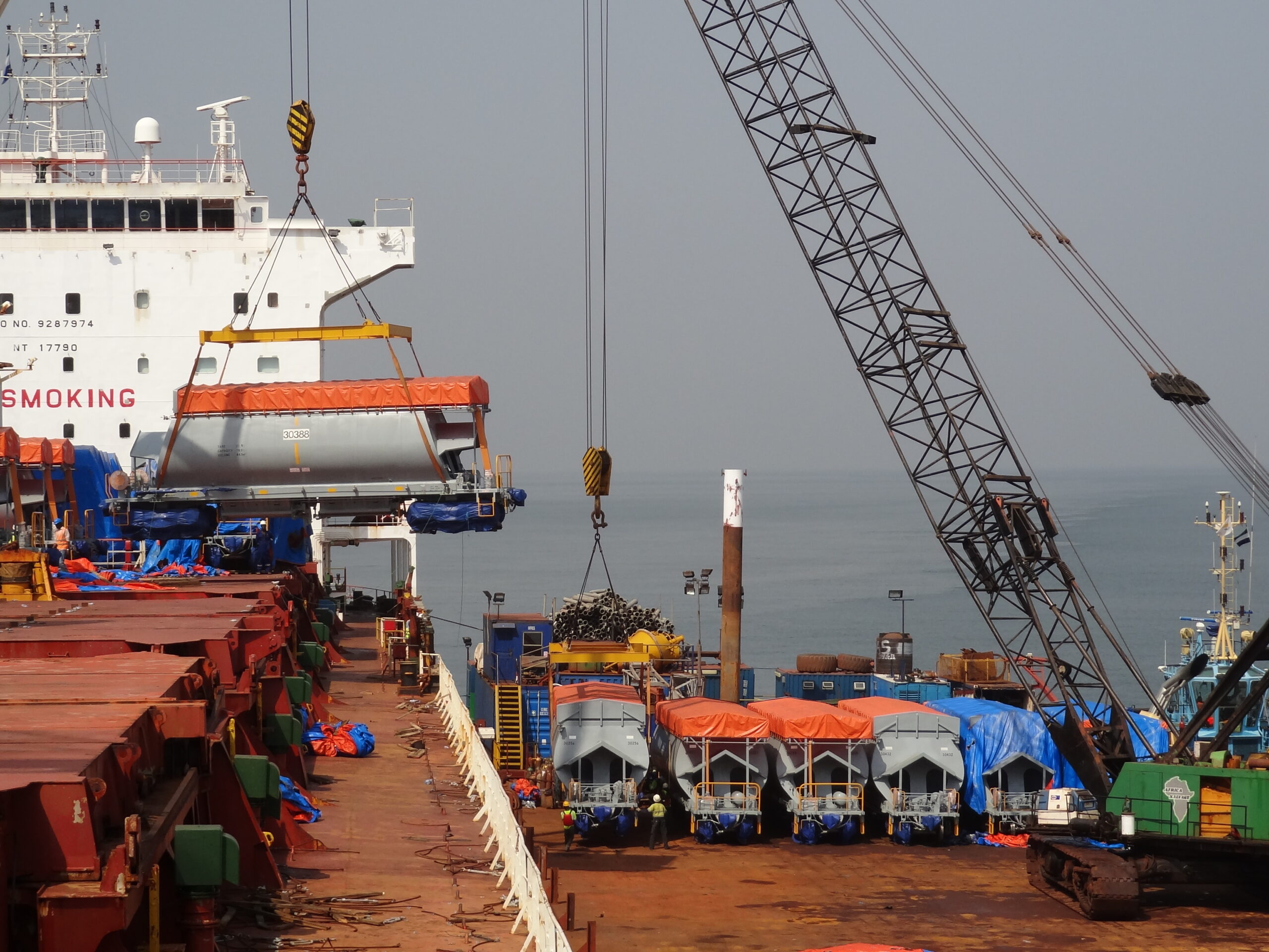 Cargo loading at the harbour
